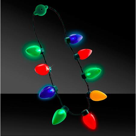 collar luces arbol de navidad luminosa