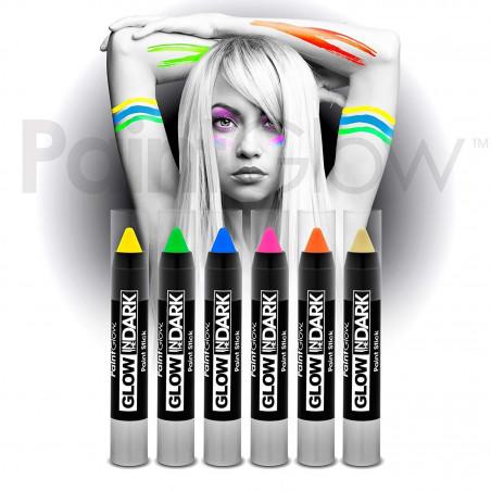 Ceras crayon neon brillan en la oscuridad