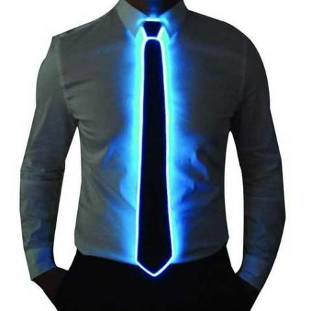 Corbata Luminosa Hilo Neón