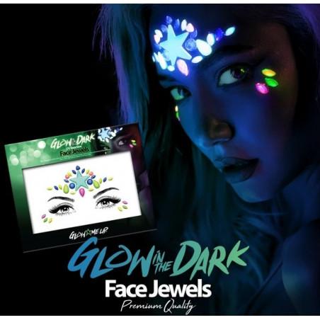 Pegatinas gemas brillan en la oscuridad