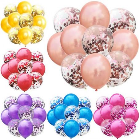 Mix globos latex con confeti