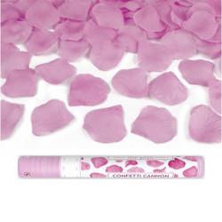 cañon petalos de color rosa
