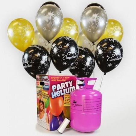 48 globos cumpleaños elegantes + Bombona de helio