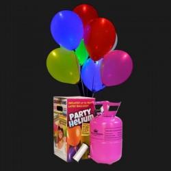 Pack 20 globos LED + Bombona Helio mini