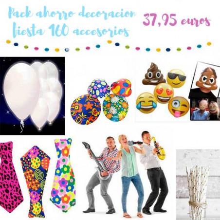 Pack ahorro decoración fiesta 160 productos