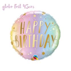 Globo Happy Birthday oro y color pastel