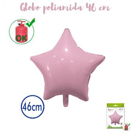 Globo poliamida estrella 46cm Rosa