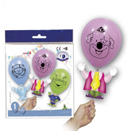 Marioneta infantil con globo