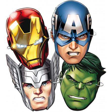 6 caretas superheroes Marvel