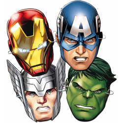 6 caretas superheroes Marvel