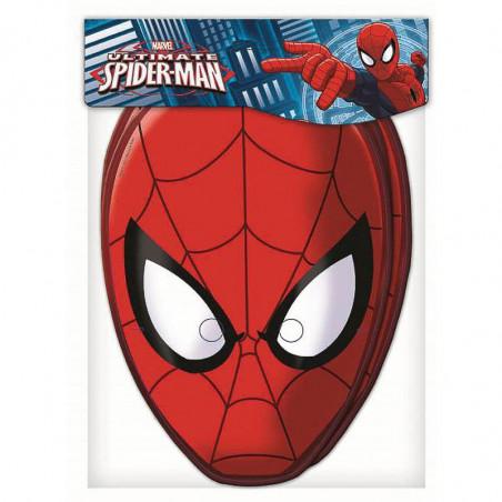 6 Caretas de papel Spiderman