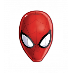 6 caretas superheroes Spiderman