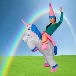 Disfraz hinchable Unicornio adulto