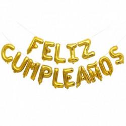 Guirnalda Feliz cumpleaños globos letras 45cm