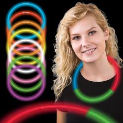 Collares luminosos tricolor