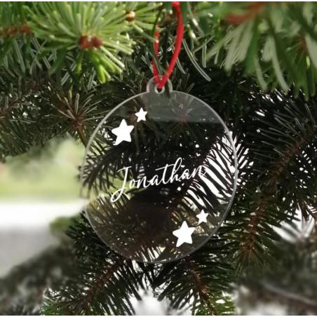 Adorno Navidad Metacrilato personalizado estrellas