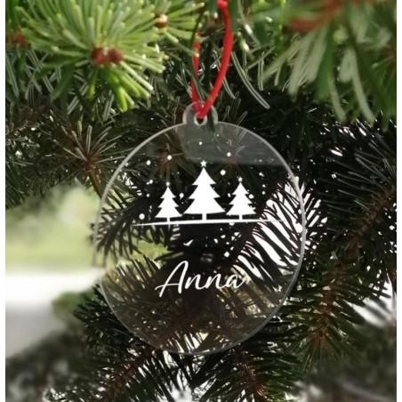 Adorno Navidad Metacrilato personalizado abetos