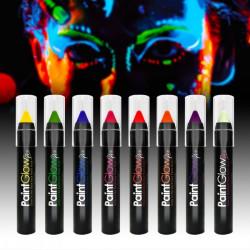 Maquillaje ceras Fluor luz ultravioleta