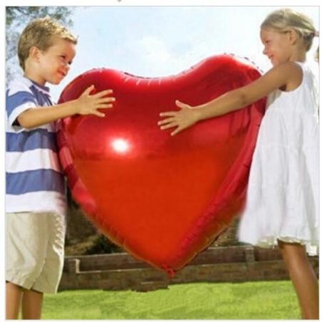 Globo de corazón XL rojo 75cm