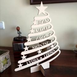 Arbol de Navidad Personalizado Con Nombres