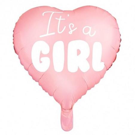 """Globo de foil corazón """"It's a girl"""""""