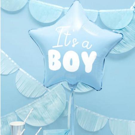 """Globo de foil estrella """"It's a boy"""""""