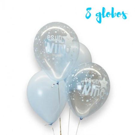 """kit 8 globos  """"Es un niño"""""""
