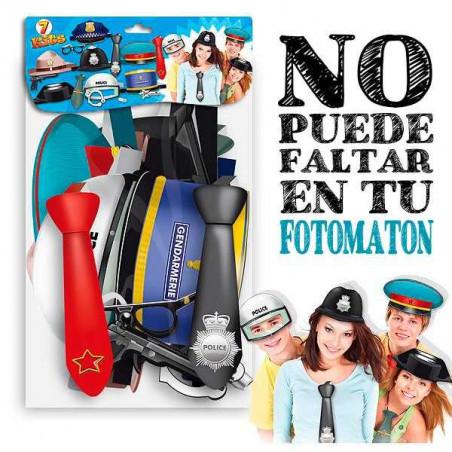 7 sombreros policia + complementos