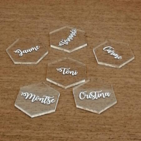 Marcasitios de metacrilato transparente