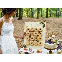Expositor para donuts de madera bodas
