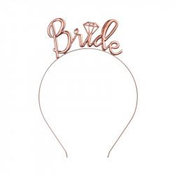 Diadema de novia rosa dorado