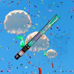 cañón confeti paracaídas