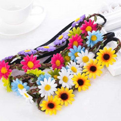 Diademas flores hippies