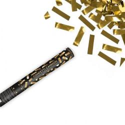 cañón confeti dorado