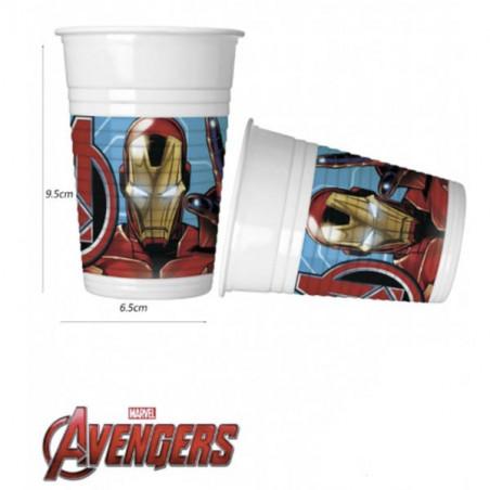 8 vasos fiesta Los Vengadores - Mighty Avengers