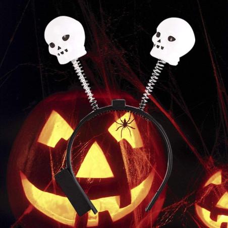 Diadema Halloween calaveras LED