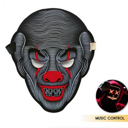 Máscara Payaso luz LED y activación por sonido