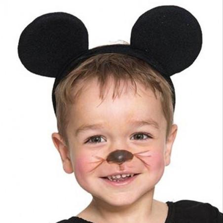 Diadema con orejas negras de ratón