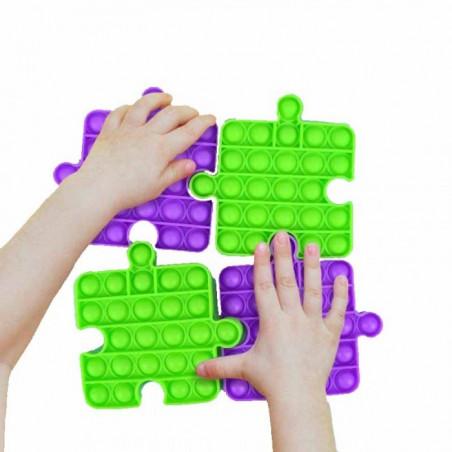 Juguete Antiestrés Fidget Toy Bubble Pop Forma de Puzzle