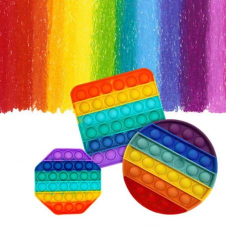 Juguete Antiestrés rainbow Octogono
