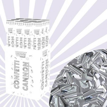 Pack 10 Cañones Confeti plateados