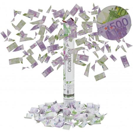 Cañón de confeti billetes 500€