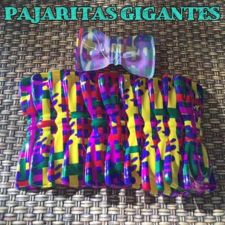 Pajaritas de plástico rayas colores
