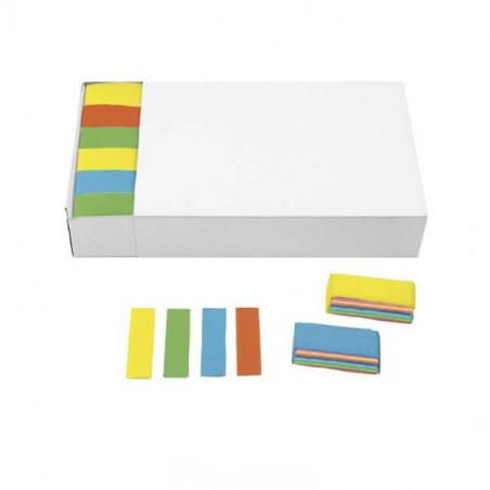 Confeti biodegradable papel rectangular