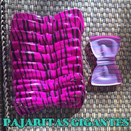 Pajaritas de plástico rosas cebra