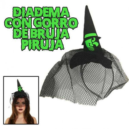 Diadema Gorro bruja Halloween