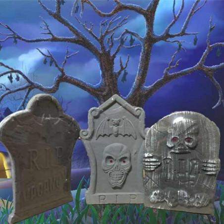 Lapida cementerio Halloween 37x26 cm