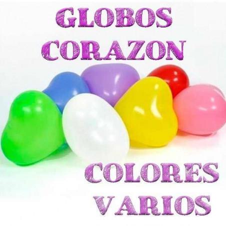 Globos corazón colores