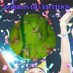 gorros photocall verde florecitas