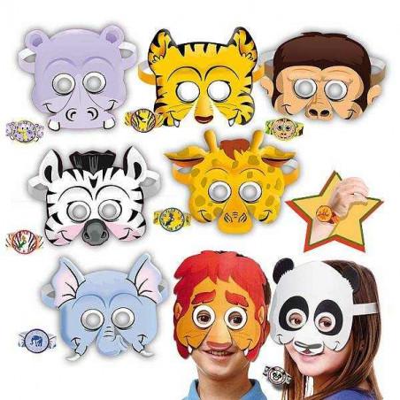 mascaras animales fiestas infantiles